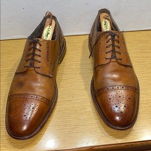 Joseph Abboud Brown Leather Oxford Shoes